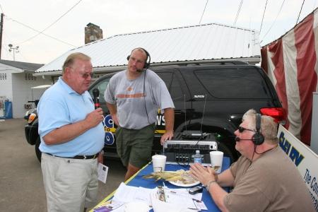 State Senator Woody Burton stops by